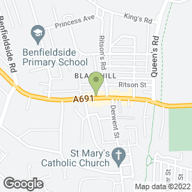 Map of Pizza Stop in Blackhill, Consett, county durham