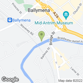 Map of Dr S.G Russell in Ballymena, county antrim