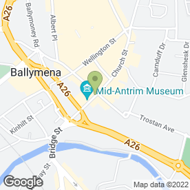 Map of GEMINI HAIR STUDIO in Ballymena, county antrim