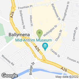 Map of Laser Clinic in Ballymena, county antrim