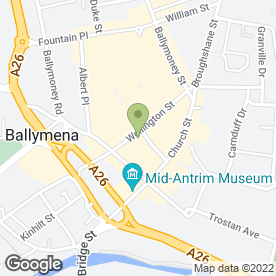 Map of Singer & Pfaff Sewing Centre in Ballymena, county antrim