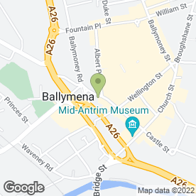Map of The Streat in Ballymena, county antrim