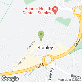 Map of Coffee Station in STANLEY, county durham