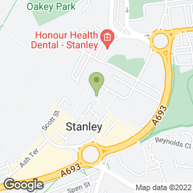 Map of Cedars Medical Group in Stanley, county durham
