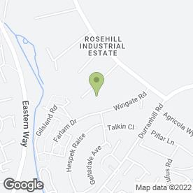 Map of Pro-Tect UK Security & Training Ltd in Rosehill Industrial Estate, Carlisle, cumbria
