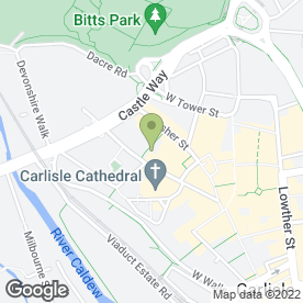 Map of Royal Bank of Scotland in Carlisle, cumbria