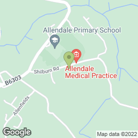 Map of Allendale Medical Practice in Allendale, Hexham, northumberland