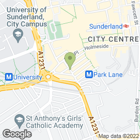 Map of Sorrento Restaurant in Sunderland, tyne and wear