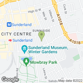Map of Thai Manor Bar & Restaurant in Sunderland, tyne and wear