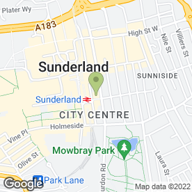 Map of Virgin Money in Sunderland, tyne and wear