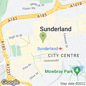 Map of Virgin Media in Sunderland, tyne and wear