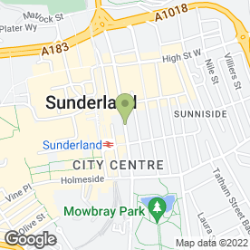 Map of Peter Heron Chartered Surveyors in Sunderland, tyne and wear