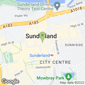 Map of The Jewellery Box in Sunderland, tyne and wear