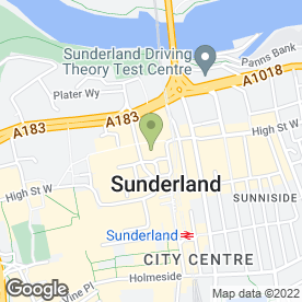 Map of Boots Hearing Care in Sunderland, tyne and wear