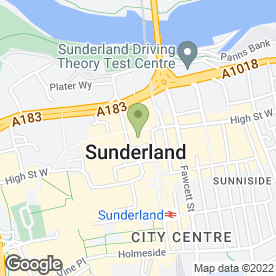 Map of McDonald's Restaurants Ltd in Sunderland, tyne and wear