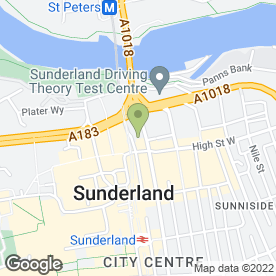 Map of Elizabeth's Restaurant in Sunderland, tyne and wear