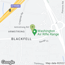 Map of Materialistics Ltd in Armstrong, Washington, tyne and wear