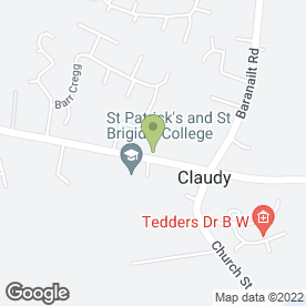 Map of Dan's Bar in Claudy, Londonderry, county londonderry