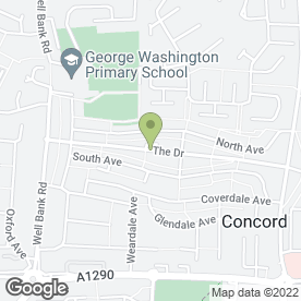 Map of Washington Removals & Storage in Washington, tyne and wear