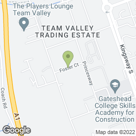 Map of Wearside Pneumatics Ltd in Team Valley Trading Estate, Gateshead, tyne and wear
