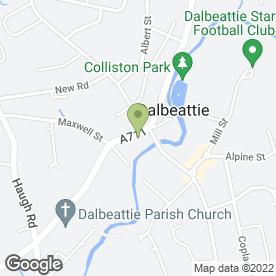 Map of Maxwell Arms Service Station in Dalbeattie, kirkcudbrightshire
