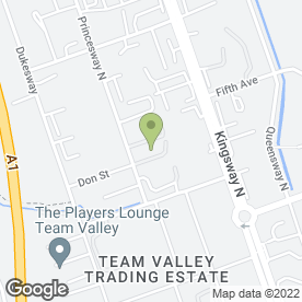 Map of Parcelforce Worldwide in Team Valley Trading Estate, Gateshead, tyne and wear