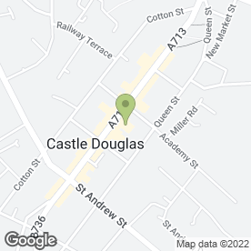 Map of Scotmid Co-operative Society Ltd in Castle Douglas, kirkcudbrightshire