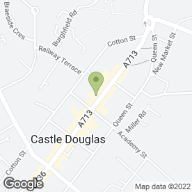 Map of Clydesdale Bank plc in Castle Douglas, kirkcudbrightshire