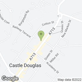 Map of Bell Ogilvy in Castle Douglas, kirkcudbrightshire