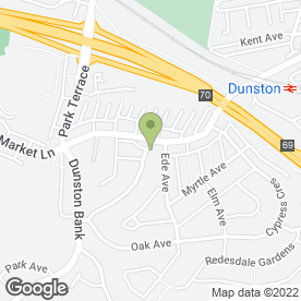 Map of Evergreen Florists in Dunston, Gateshead, tyne and wear