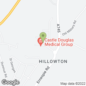 Map of Garden Hill Dental Surgery in Castle Douglas, kirkcudbrightshire