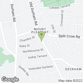 Map of Duckham Supermarket in Gateshead, tyne and wear