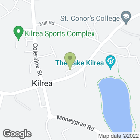 Map of Arbutus Restaurant in Kilrea, Coleraine, county londonderry