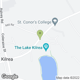 Map of Manor House Cellars Restaurant in Kilrea, Coleraine, county londonderry