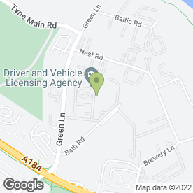 Map of VRS AUTO SALVAGE LTD in Gateshead, tyne and wear