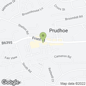 Map of Greggs in Prudhoe, northumberland
