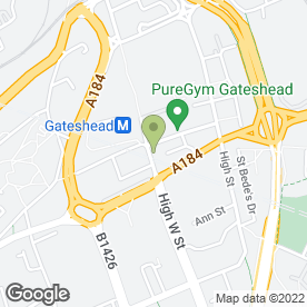 Map of Cup & Cake in Gateshead, tyne and wear