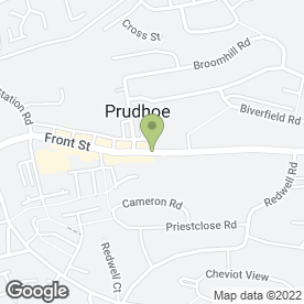 Map of Aspen Physiotherapy & Sports Injury Clinic in Prudhoe, northumberland