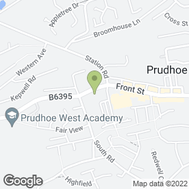 Map of Suzanne Graham Estate Agents in Prudhoe, northumberland