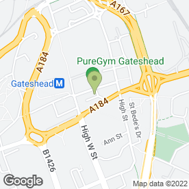 Map of Hays Travel in Gateshead, tyne and wear