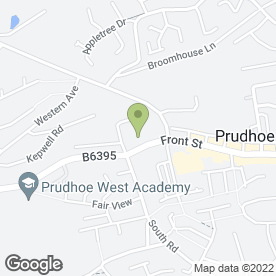 Map of Prudhoe Youth Charity Shop in Prudhoe, northumberland