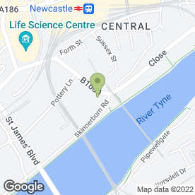 Map of Status Wedding Cars in Newcastle Upon Tyne, tyne and wear