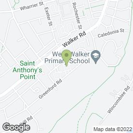 Map of Green Ford in Walker, Newcastle Upon Tyne, tyne and wear
