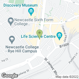 Map of Norland Burgess in Newcastle Upon Tyne, tyne and wear