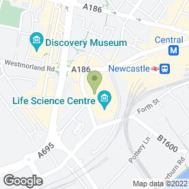 Map of Digital in Newcastle Upon Tyne, tyne and wear