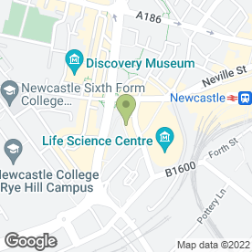 Map of Jowetts Driver Training in Newcastle Upon Tyne, tyne and wear