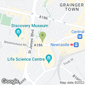 Map of The County House in Newcastle Upon Tyne, tyne and wear