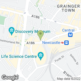 Map of Auto Hire in Newcastle Upon Tyne, tyne and wear