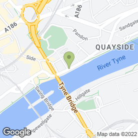 Map of Trinity Chambers in Quayside, Newcastle Upon Tyne, tyne and wear