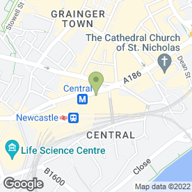 Map of ROYAL STATION HOTEL in Newcastle Upon Tyne, tyne and wear